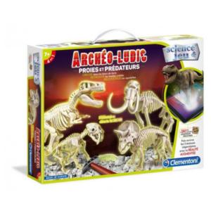 Coffret-de-paleontologue-Archeo-ludic-proies-et-prédateurs-Clementoni