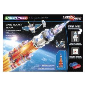 Laser Pegs Mars Rocket Templar