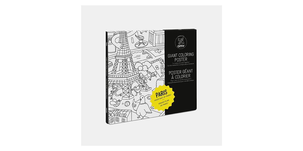 Poster à colorier Paris d'Omy