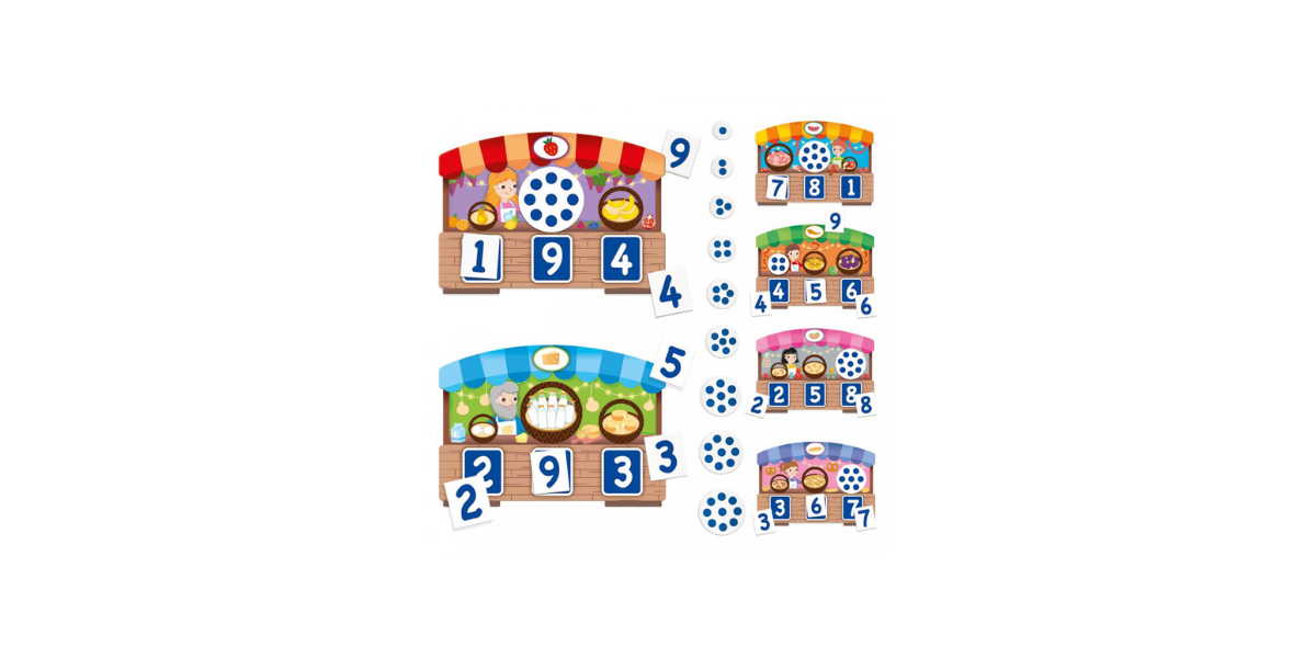 Loto tactile des chiffres 123 Montessori Headu
