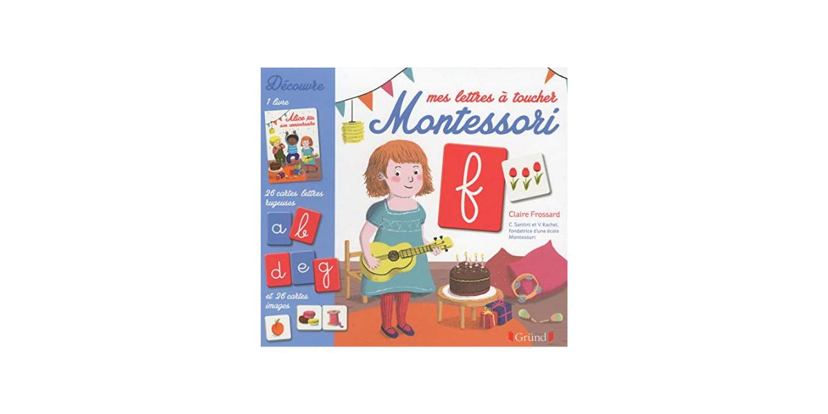 Mes lettres à toucher Montessori Grund