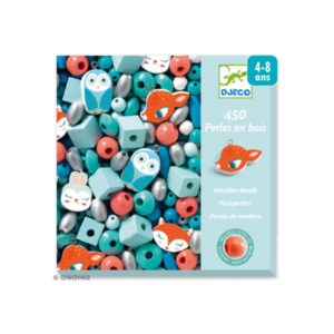 Kit de 450 perles en bois Petits animaux Djeco