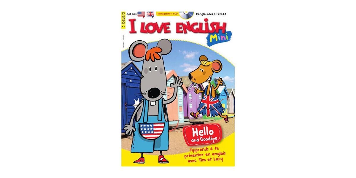 Magazine pour enfant I love english mini