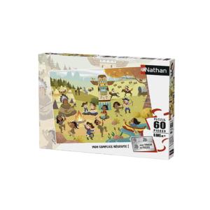 Puzzle 60 pièces Cow-boys et Indiens de Nathan.