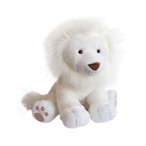 peluche géante lion des neiges