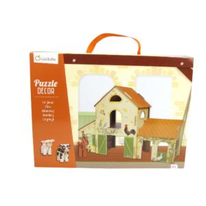 Puzzle Décor 3D La ferme Avenue Mandarine