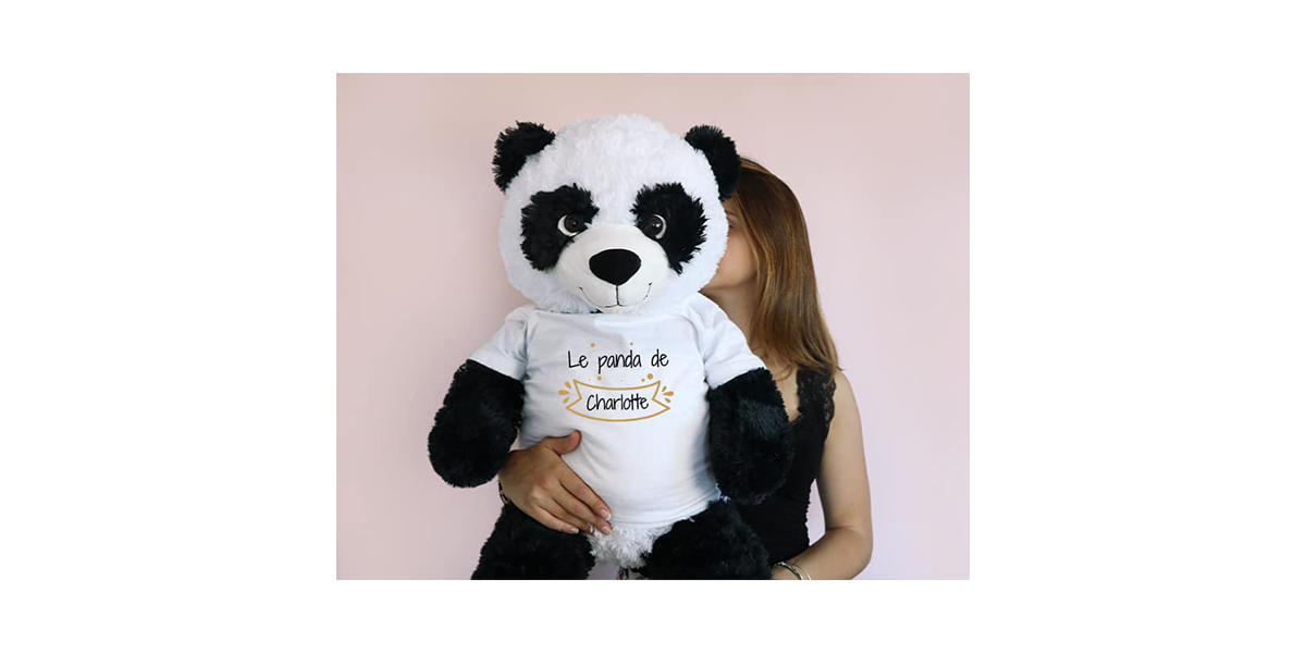 panda géant personnalisable