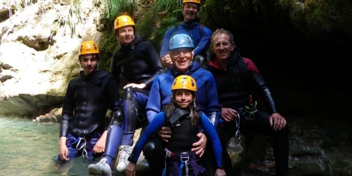 Session de canyoning enfant
