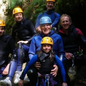 Session de canyoning enfant